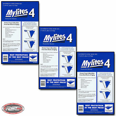 150 - E. GERBER MYLITES 4 CURRENT / MODERN 4-Mil Mylar Comic Bags Sleeves 700M4