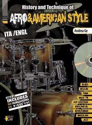 Andrea Ge: Afro & American Style (Book/CD) Drums Sheet Music, CD Instrumental Tu