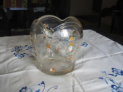 Antique Rare Glass Bohemian Moser Beaded Hand Painted Floral Vase !!!!