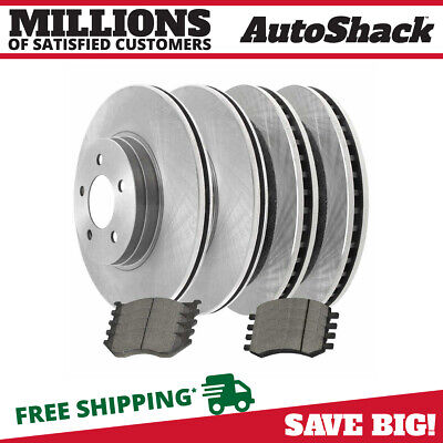 Front & Rear Kit 4 Disc Brake Rotors And 8 Metallic Pads Full Complete Set