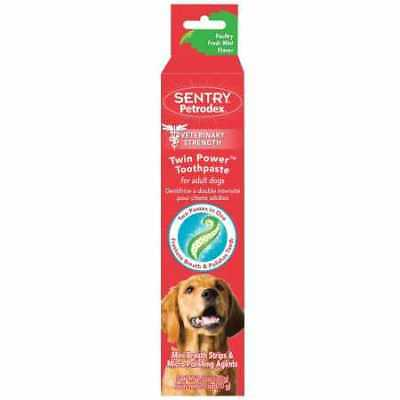 SENTRY Petrodex Twin Power Toothpaste for Adult Dogs  Poultry Fresh Mint 2.5