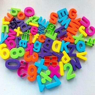 Set Of 26 Colorful Teaching Magnetic Numbers Fridge Magnets Alphabet Kids Toys A