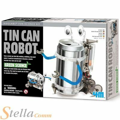 4M Tin Drinks Can Robot Build Your Own Science Toy Kit