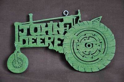 John Deere  Vintage Tractor Wood Christmas Ornament Hand Cut USA