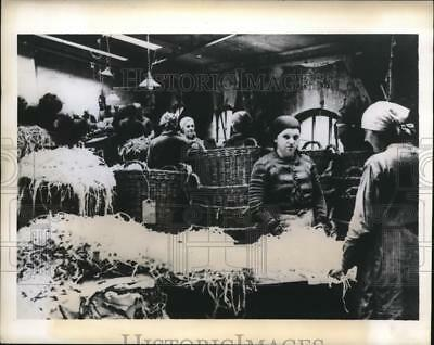 1943 Press Photo Germany women work at paper salvage for war effort