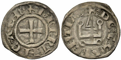 FORVM Choice VF Charles II of Anjou Prince of Achaea Denier Tournois Scarce