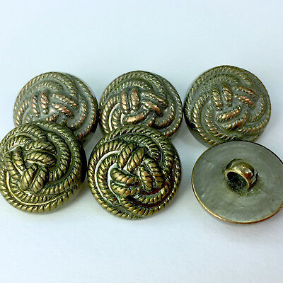 Gold 'Celtic Knot' Style Buttons Plastic Shank On Back 17mm Sold Per 5 Buttons