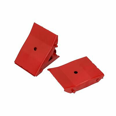Steel Safety Wheel Chocks Blocks Trailer Caravan Horsebox Motorhome TE832
