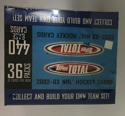 2002-03 Topps Total Factory Sealed Hockey Box 36 Pack