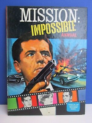 RARE old vintage MISSION IMPOSSIBLE 1968 ANNUAL BOOK hardback RETRO TV atlas 75A