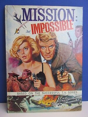 RARE old vintage MISSION IMPOSSIBLE 1969 ANNUAL BOOK hardback RETRO TV atlas 76A