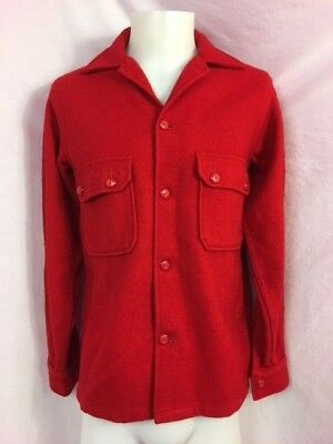 Red Vintage Boy Scouts of America Official Wool Jacket, Size 38