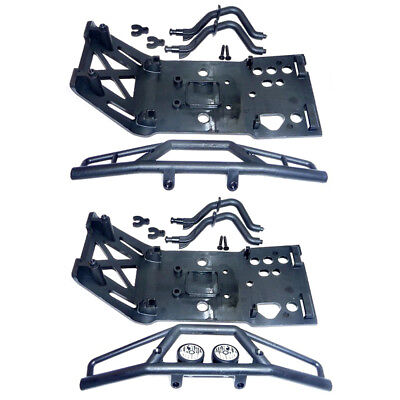 HPI Savage X 4.6 Front & Rear BUMPERS & SKID PLATES (bulkhead tower 4.6 SS XL 25