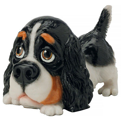 "Little Paws ""Charles"" Cavalier King Spaniel Dog Figurine 4.75"" Long New In Box!"