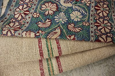 Vintage French fabrics antique material PROJECT BUNDLE Arts and Crafts + linen o