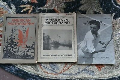 3 Issues American Photography Magazine March 1918, April 1926, September 1932