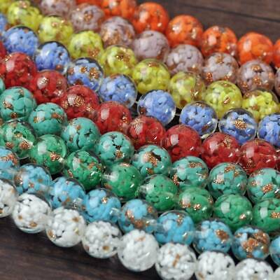 5pcs 12~20mm Round Lampwork Glass Exquisite Loose Spacer Big Beads Wholesale Lot