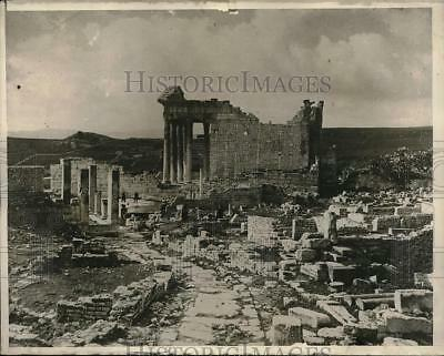1929 Press Photo Old Stone Ruins Of Roman Rule Capitol At Dougge In Africa