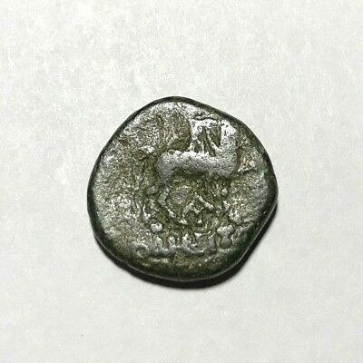 Ancient Greek, 400-100 BC. Bronze coin, Horse