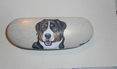Greater Swiss Mountain Dog Hand Painted Eyeglass case