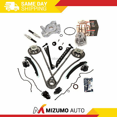Timing Chain Kit Cam Phaser VCT Selenoid Oil Water Pump Fit 04-10 Ford 5.4