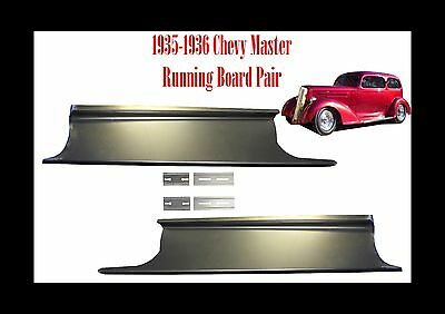 1935 1936 Chevrolet Chevy Master Car Steel Running Board Set  - Made in USA