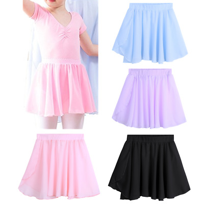 Girls Ballet Tutu Dancewear Kids Baby Chiffon Dance Wrap Skirt Dress Gym Costume