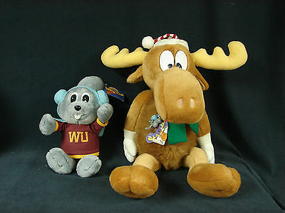 Rocky & Bullwinkle Plush Stuffed 1996 Macy's Limited Edition Lot with Charm Tag