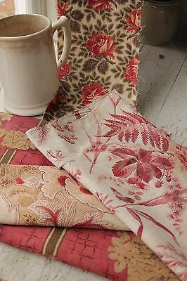 Vintage French fabric Project bundle quilting pillow materials 19th century old