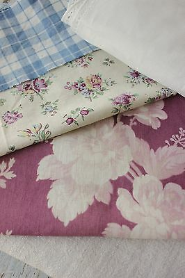 Antique Vintage French old fabric patchwork etc craft material   PROJECT BUNDLE