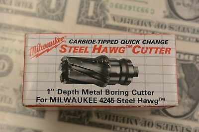 "Milwaukee 4245 5/8"" Steel Hawg Cutter 1"" Depth Metal Boring Cutter 49-57-0626"