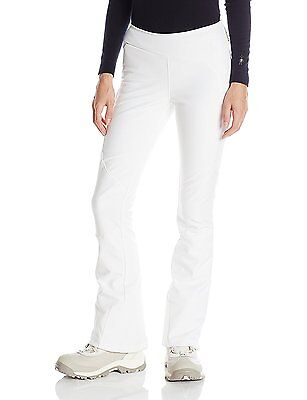 SPYDER LADIES 504602-100 Ski Pants Slalom Softshell Pant White Size 42