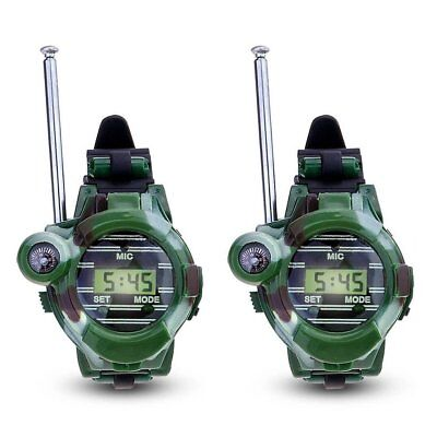 7 in 1 LCD Radio Watches Walkie Talkie Children Watch Radio Out Play Tool 150M