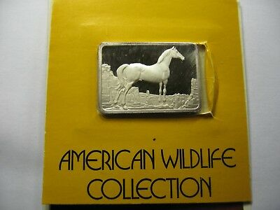 Wild Horse Hamilton 1976 Very Rare 999 Silver Bar Coin Paper Sealed 250 Made