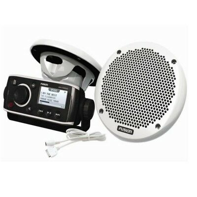 Fusion MS-RA205KTS Black / White Boat Stereo and 6 Inch Speaker Combo