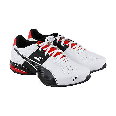 Puma Cell Surin 2 Fm Mens White Leather & Canvas Athletic Training Shoes
