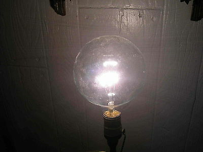 "Unusual 5"" Diameter Vintage Light Bulb Old Working Electric Electro Antique"