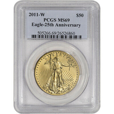 2011-W American Gold Eagle Burnished 1 oz $50 - PCGS MS69