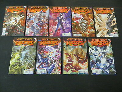 Secret Wars #1-9 9 Issue Complete Run Marvel Maxi Series