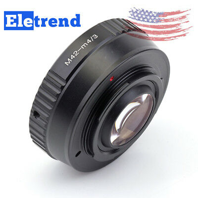 US Camera Focal Reducer Speed Booster Adapter For M42 Lens To Micro 4/3 M4/3 GX7