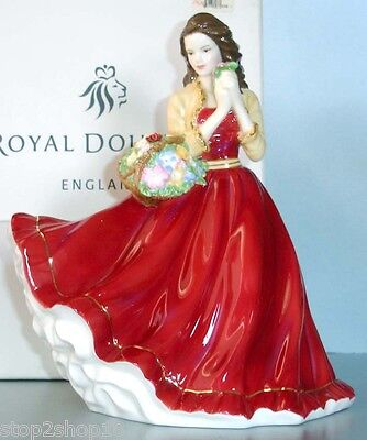 Royal Doulton CHARLOTTE Pretty Ladies Figurine in Red Gown #HN5382 New In Box