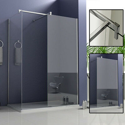 Aica 1950mm Walk in Shower Enclosure Screen Panel Wet Room Cubicle Tray Great VO