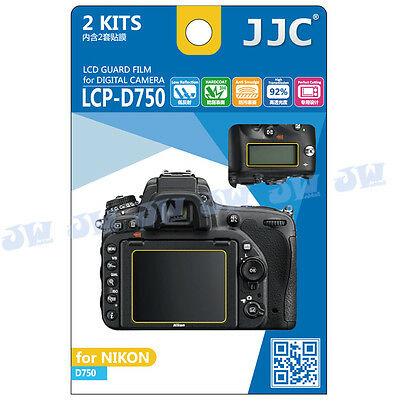 JJC 2PCS LCD Guard Film Camera Screen Display Protector for NIKON D750