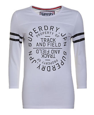 New Womens Superdry Factory Second Trackster Baseball Top Black