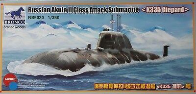 BRONCO MODELS NB5020 1:350 Russian Akula II Class Attack Submarine -K335 Giepard