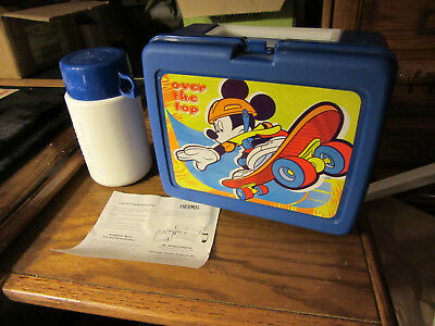Vintage  mickey Mouse  Lunch Box With Thermos And Paper  new  ... & VINTAGE Mickey Mouse Lunch Box u0026 Thermos - $9.99 | PicClick Aboutintivar.Com