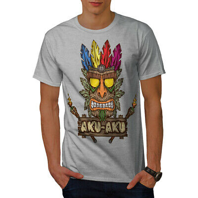 Wellcoda Tradition Face Mask Mens T-shirt, Bandicoot Graphic Design Printed Tee