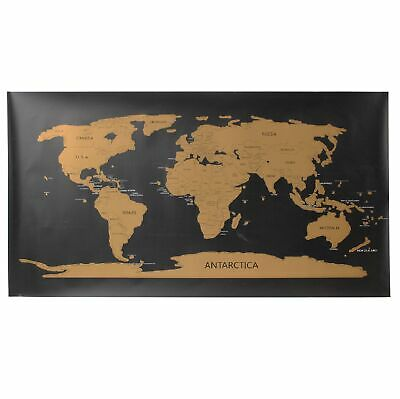 Travellers large 80x45 cm scratch off world map travel holiday travellers large 80x45 cm scratch off world map travel holiday poster wall paper gumiabroncs Images