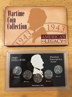 American Legacy 1943 Wartime Coin Collection Steel Cents