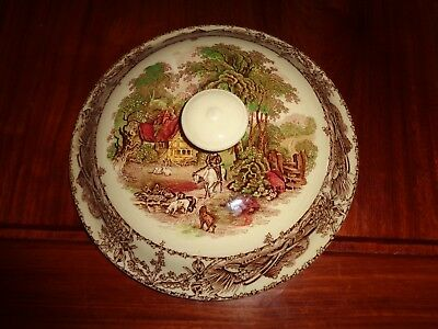 A J Wilkinson Royal Staffordshire Pottery RURAL SCENES Replacement Tureen Lid
